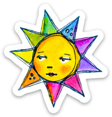 RubberMoon | Rainbow Sun Sticker