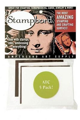 "Artist Trading Card Stampbords (2.5"" x 3.5"") Set of 5"