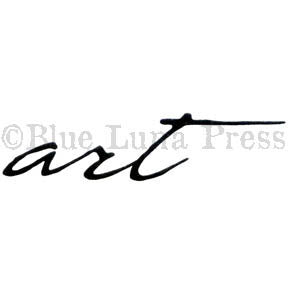 "Cursive ""art"" - BLP503G - Rubber Art Stamp"