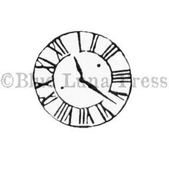 Clock Face - BLP567C - Rubber Art Stamp