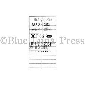 Library Card - BLP537G - Rubber Art Stamp