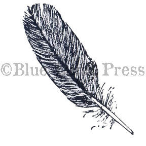 Feather - BLP561E - Rubber Art Stamp