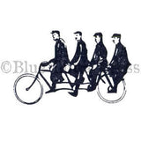 FourTour Bicycle - BLP562D - Rubber Art Stamp