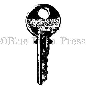 Ma Vinci | BLP557K - Large Key - Rubber Art Stamp