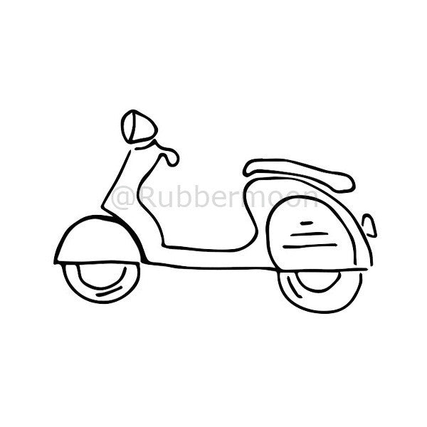Barb Rogers | BR3D - Cute Scoot - Rubber Art Stamp
