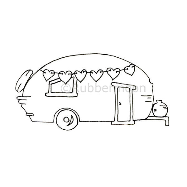 Barb Rogers | BR5266I - Sweetheart of a Camper - Rubber Art Stamp