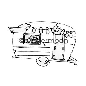 Holiday Traveler - BR5514G - Rubber Art Stamp