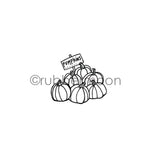 Barb Rogers | BR7356F - Pumpkins for Sale - Rubber Art Stamp