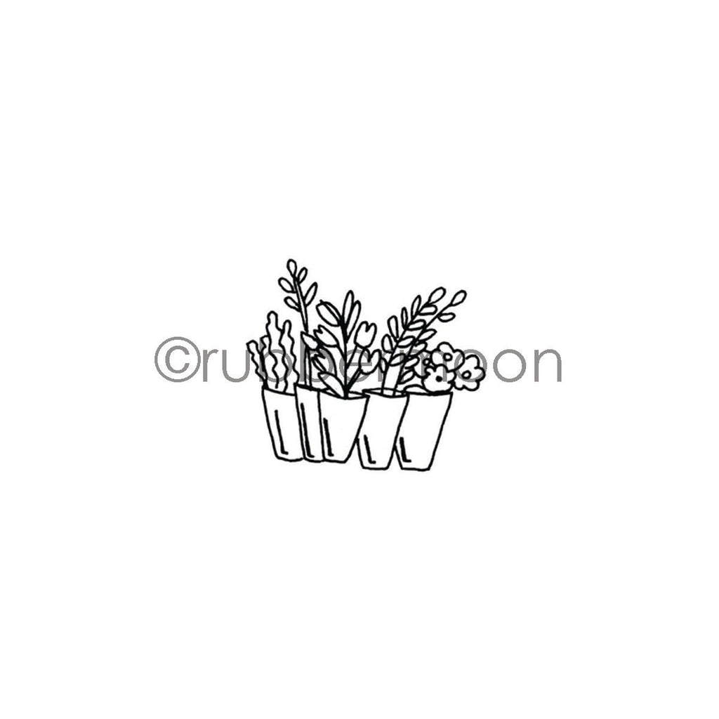 Barb Rogers | BR7357F - Bunch of Bouquets - Rubber Art Stamp