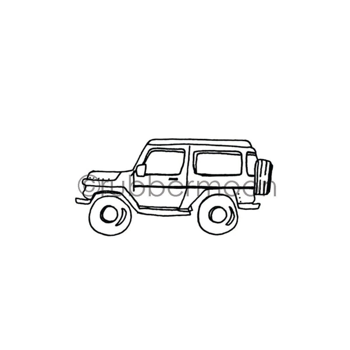 Barb Rogers | BR7361G - 4 Wheelin' - Rubber Art Stamp