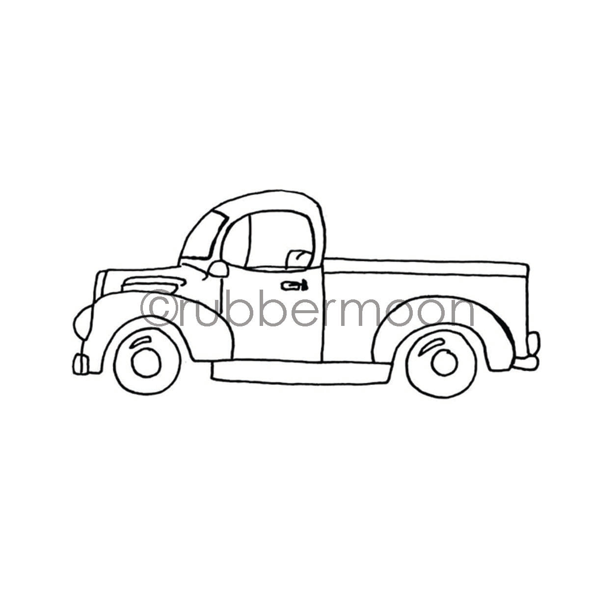 Barb Rogers | BR7362H - Grandpa's Ride - Rubber Art Stamp