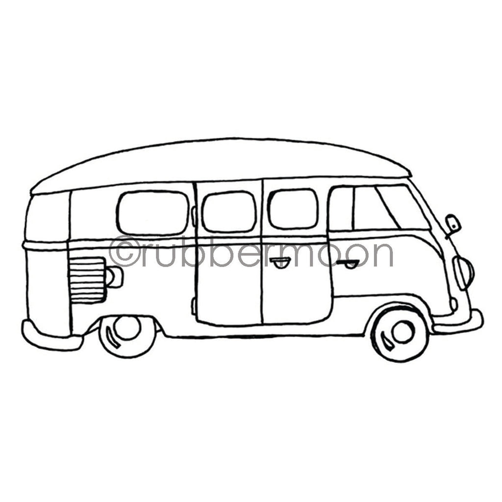 Barb Rogers | BR7365I - That 70s Bus - Rubber Art Stamp
