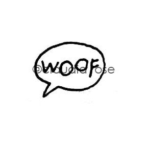 Claudia Rose | CR1117AA - Woof Word Balloon - Rubber Art Stamp