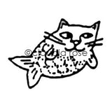 Claudia Rose | CR131B - Catfish (small) - Rubber Art Stamp
