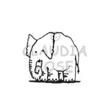 Elephant Rubber Art Stamp
