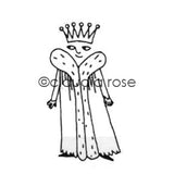 Claudia Rose | CR184E - Royal Court King - Rubber Art Stamp