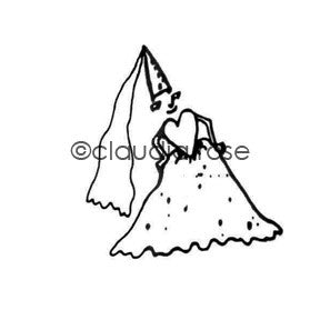 Claudia Rose | CR185E - Royal Court Princess - Rubber Art Stamp