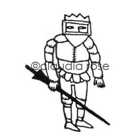 Claudia Rose | CR187F - Royal Court Knight - Rubber Art Stamp
