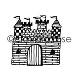 Claudia Rose | CR192F - Royal Court Castle - Rubber Art Stamp