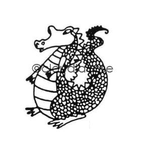 Claudia Rose | CR197F - Royal Court Dragon - Rubber Art Stamp