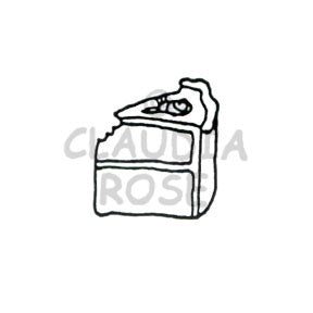 Claudia Rose | CR242B - Piece of Cake - Rubber Art Stamp