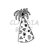 Party Hat Rubber Art Stamp