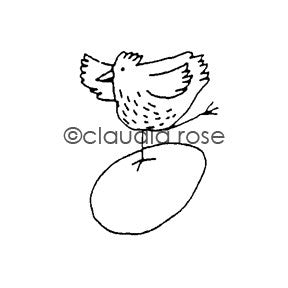 Dancing Chick - CR332D - Rubber Art Stamp