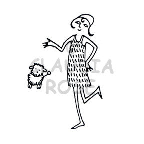 Collette & Fifi - CR3401G - Rubber Art Stamp