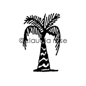 Claudia Rose | CR343D - Palm - Rubber Art Stamp