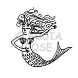 Esther Mermaid - Rubber Art Stamp