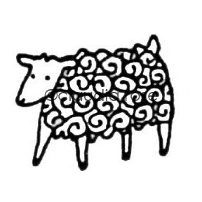 Claudia Rose | CR3517D - Lama the Lamb - Rubber Art Stamp