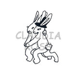 Tango Bunnies Rubber Art Stamp