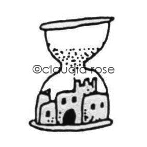 Claudia Rose | CR401B - Sand Castle Time - Rubber Art Stamp