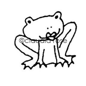 Claudia Rose | CR407D - Kiss Me Frog - Rubber Art Stamp
