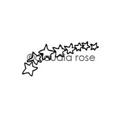 Claudia Rose | CR421C - Star Spray - Rubber Art Stamp