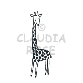 Claudia Rose | CR485E - Spot the Giraffe - Rubber Art Stamp