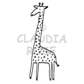 Dot the Giraffe - CR486E - Rubber Art Stamp