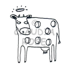 Claudia Rose | CR490F - Holy Cow - Rubber Art Stamp