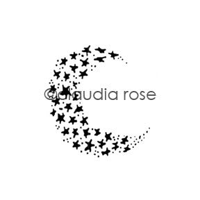 Claudia Rose | CR501E - Celestial Moon - Rubber Art Stamp