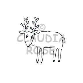 Rain-deer Rubber Art Stamp