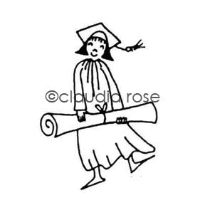 Claudia Rose | CR5106E - Graduate Barbara - Rubber Art Stamp