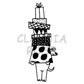 Claudia Rose | CR5114E - Pat with Gifts - Rubber Art Stamp