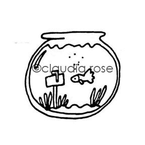 Claudia Rose | CR5120E - Fish Mail - Rubber Art Stamp