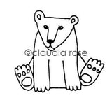 Claudia Rose | CR518E - Ted Polar - Rubber Art Stamp