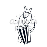 Conga Drum Dog  Rubber Art Stamp