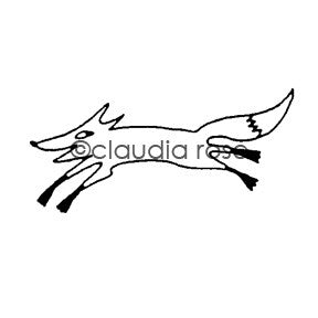 Claudia Rose | CR592D - Quick Fox- Rubber Art Stamp
