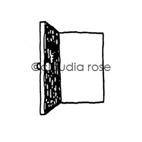 Door (lg) - CR601E - Rubber Art Stamp