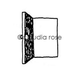 Claudia Rose | CR601E - Door (large) - Rubber Art Stamp