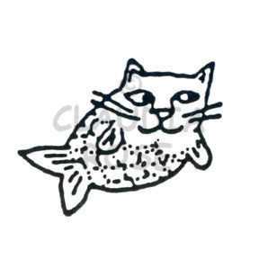 Claudia Rose | CR604D - Catfish - Rubber Art Stamp