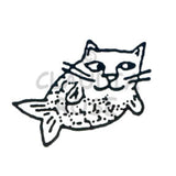 Catfish Rubber Art Stamp